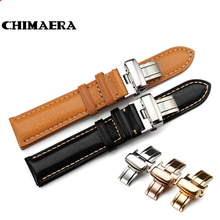 Handmade Black Brown Genuine Calf Watch Band 18mm 19mm 20mm 21mm 22mm Watch Leather Strap For Omega Breitling For Tissot Seiko