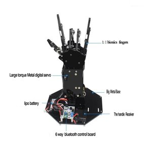 Image 5 - Industrial Robot Arm Bionic Robot Hands Large Torque Servo Fingers Self movement Mechanical Hand with Control Panel