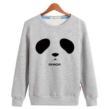 Fashion cartoon panda o-neck loose sweatshirt male preppy style pullover outerwear