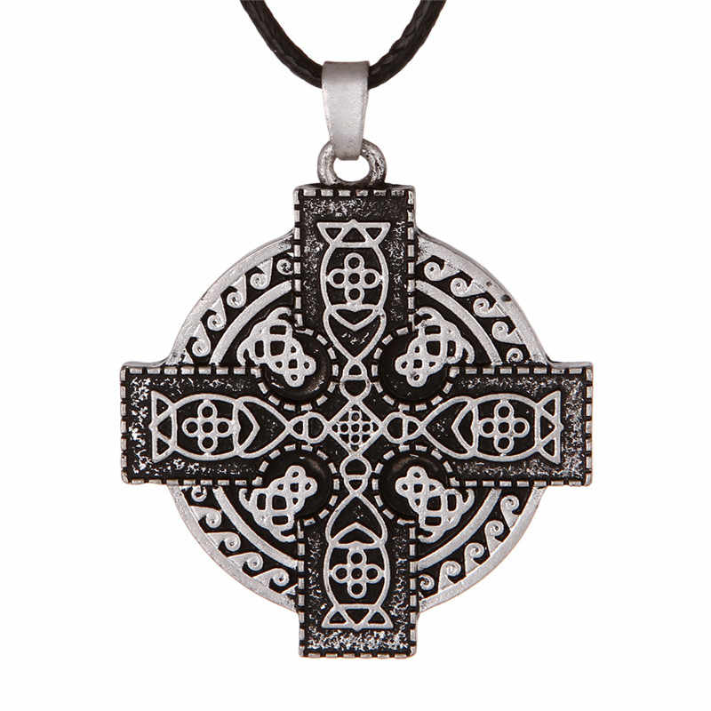 Viking Elder Futhark Sunwheel Solar Cross Pendant Medieval Celtics Cross Pendant 1pc