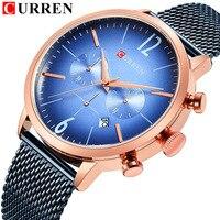 Curren 2019 New Men Watches Top Brand Luxury Black Quartz Watch Waterproof Sport Male Clock Casual Wristwatch Relogio Masculino