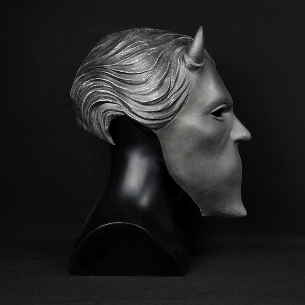 Призрак безымянных маска упыря Косплэй призрак B.C тяжелый металл Doom жесткий группа панк-рок латексный шлем маски вечеринка Хэллоуин реквизит
