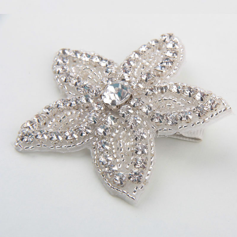 New Fashion Accessory Vintage Luxe Girls Rhinestone Five-pointed Star Hairpins Bay Hair Clips Children Barrette Hair Accessories