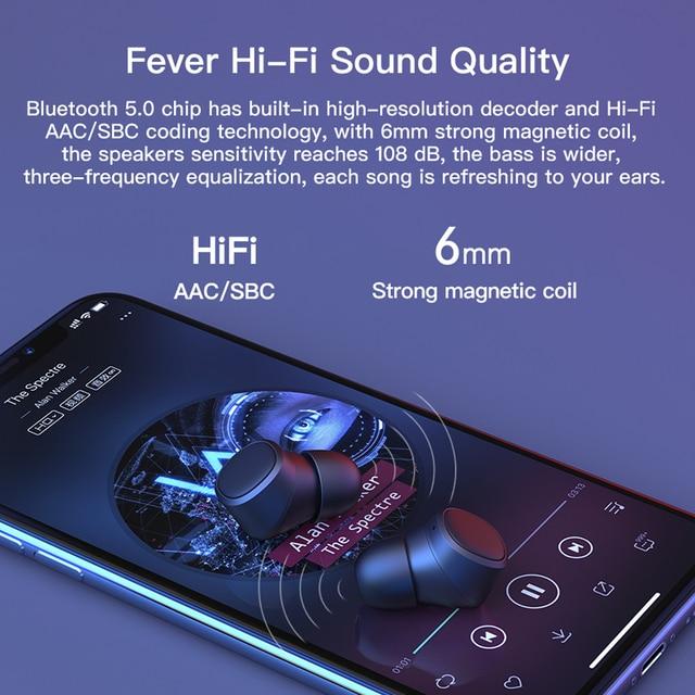 Tiso i4 Bluetooth 5.0 earphones TWS true wireless stereo 3D headphone sports IPX5 waterproof headset with dual microphone 4