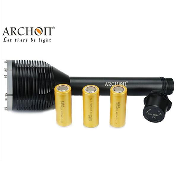 Lampe de plongée ARCHON D33 CREE XM-L T6 3000 lumens torche de plongée 100 M sous-marine photographiant par batterie 18650