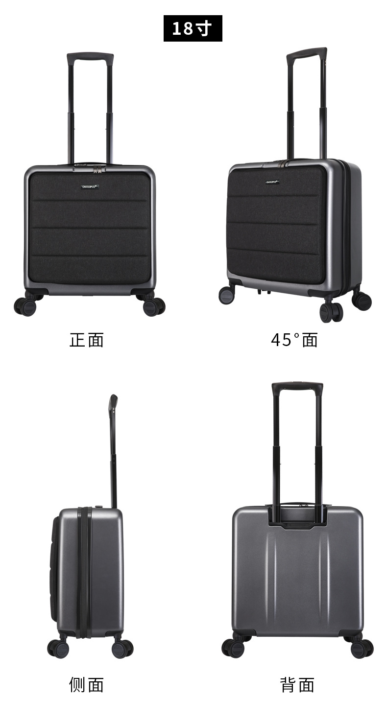 Casual Travel Trolley Luggage Aluminum Frame Alloy Business Rolling Luggage Airplane Suitcase Spinner Wheels 20inch (17)