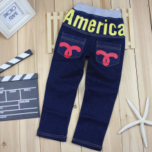 2017 spring and autumn fashion child jeans pants girls boys jeans letter print child casual denim pants