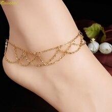Diomedes новые моды diomedesanklets пляж босиком сандалии сетка звена цепи кисточкой ног ювелирные ножные браслеты для женщин