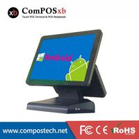 15 inch double screen touch Android cash register, retail / restaurant pos machine all in one computer