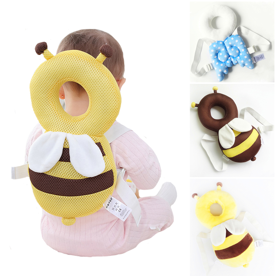 Large Baby Head Protection Pad Toddler Headrest Pillow Baby Neck Cute Wings Nursing Drop Resistance Cushion YYT341