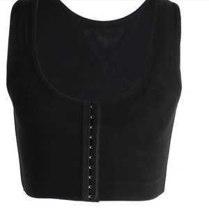 Image 5 - 男女性化乳房シェイパー制御おっぱい見えないベストシェイパーバックコレクター黒、白スリム胸フック調節可能なコルセット