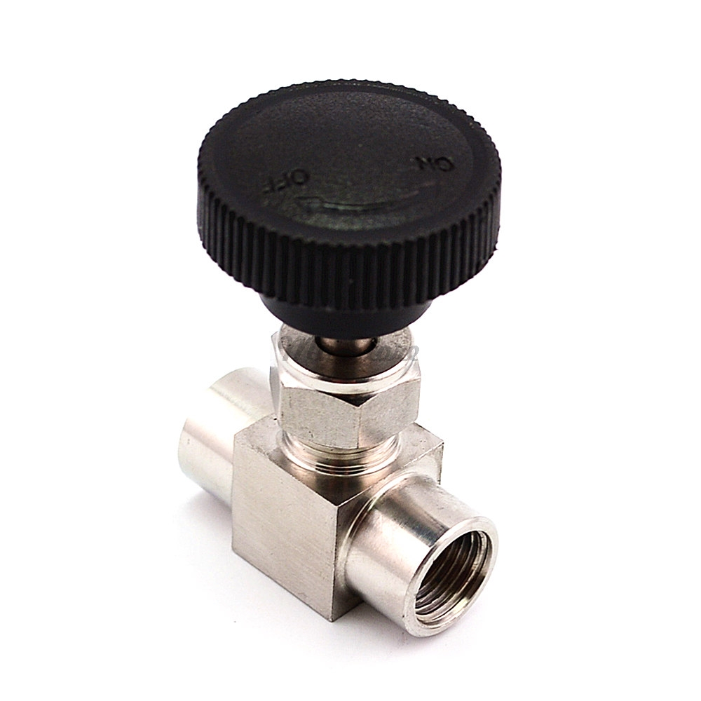 Free Shipping Stainless Steel 304 Needle Valve 1/8'' 1/4'' 1/2'' Female Thread BSP SS304 For Water Gas Oil 1 8 npt female check one way valve 304 stainless steel water gas oil non return