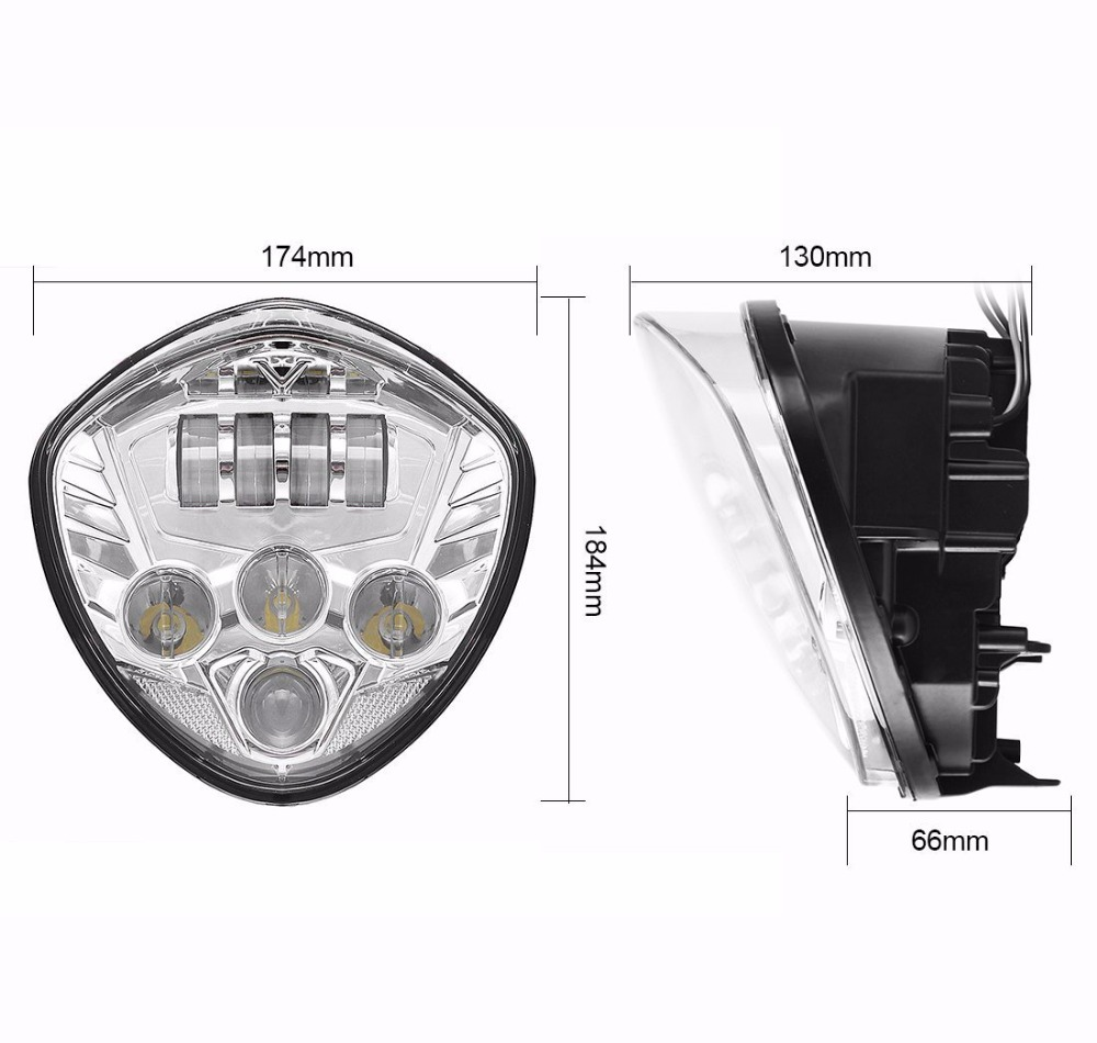 Motorrad 40 Watt Cre LED Scheinwerfer lampe Schwarz H/L Strahl Für Sieg cross land - 3