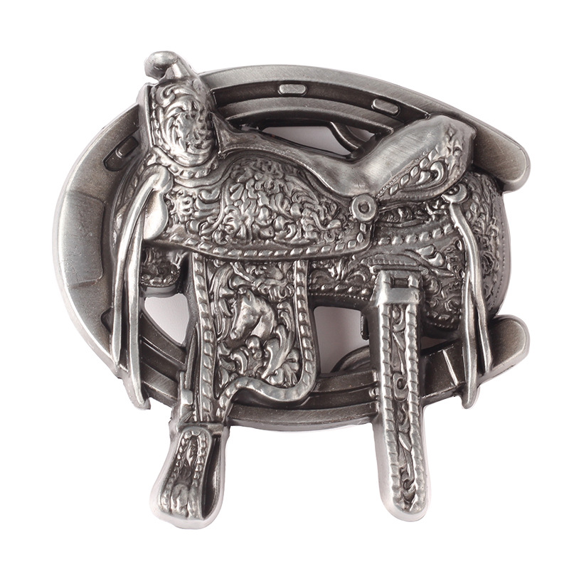 Equestrian Competition Metal Belt Buckle 4.0cm Width