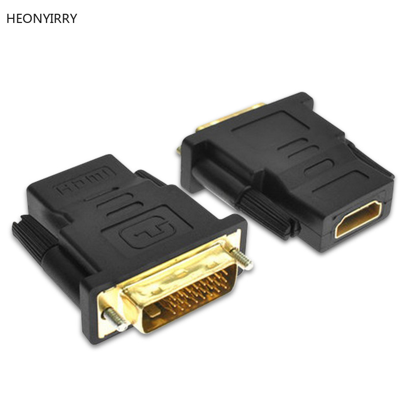 HDMI Female To DVI D 24+1 Pin Male Adapter Converter HDMI2DVI Cable Switch For PC For PS3 Projector TV Box HDTV LCD TV