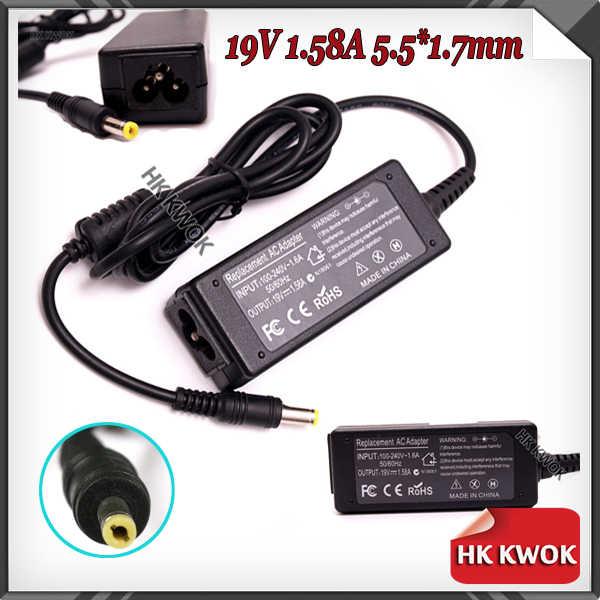 2017 zasilanie przewód zasilający ue + 19 V 1.58A 5.5*1.7mm dla acer aspire one ZG8 ZE6 ZE7 X108 a110L A110X moc adapter do laptopa