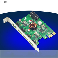 USB 2.0 PCI E Expansion Card External 4x 9Pin Header(Can convert 8 port USB2.0) PCIe Card Adapter with 4pin IDE Power Connector