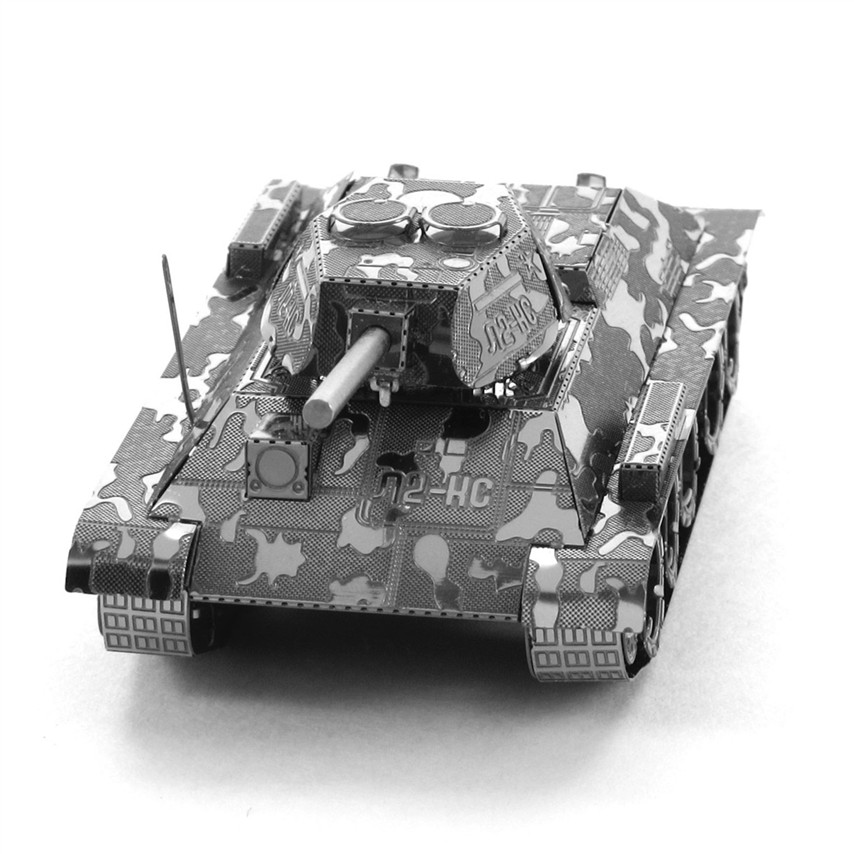 T-34 Tank 3D Metal Puzzle For Children DIY Assembly Militarys