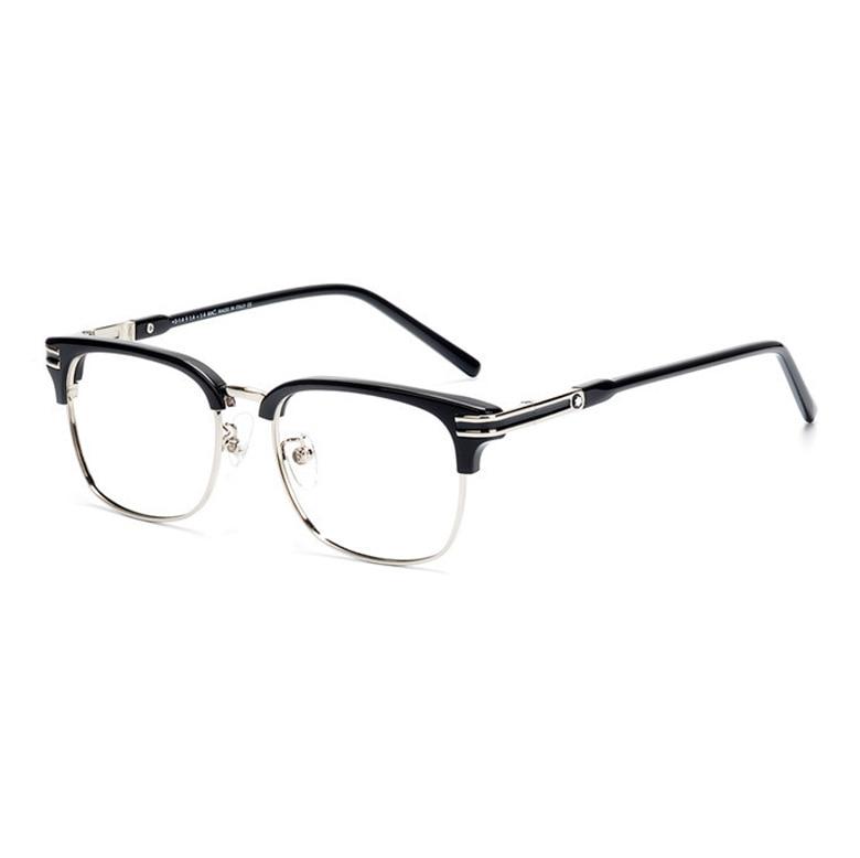 Viodream Plastic Titanium Business Men Half Eyeglasses Handmade Optical Glasses Frame Luxury Brand Mb669 Spectacle Oculos
