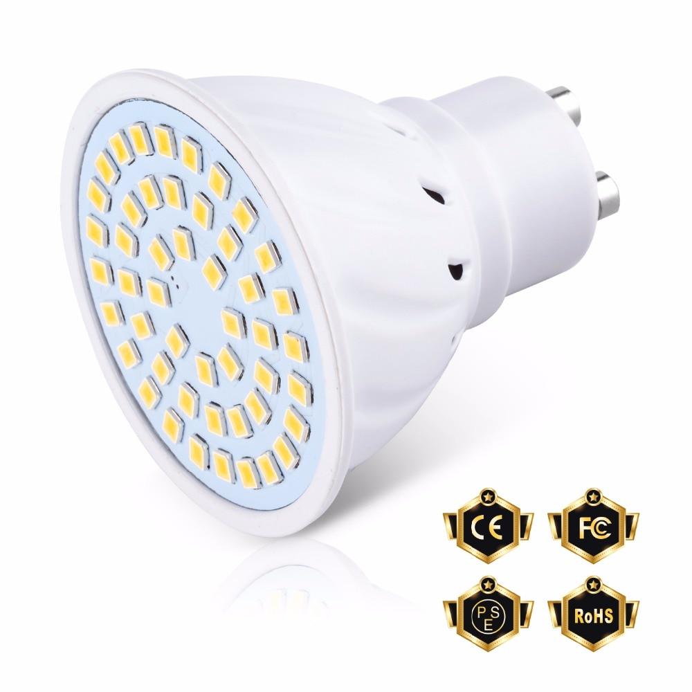 220V LED Light Bulb GU10 Spotlight Bulb MR16 Lampada Led E27 Led Lamp E14 48 60 80leds Modern Ceiling Lights For Kitchen B22