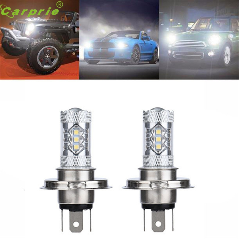 High Quality  2 X 80W White H4 9003 HB2 LED Fog Light Bulb 1500LM High Low Beam Headlight