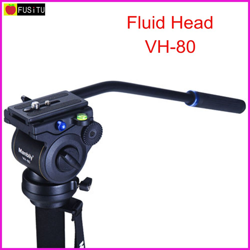 Manbily VH-80 Video Camera Damping Fluid Tripod Head Panoramic Hydraulic Head for Slider Monopod DSLR Camera Shooting Video Film aluminium alloy professional camera tripod flexible dslr video monopod for photography with head suitable for 65mm bowl size