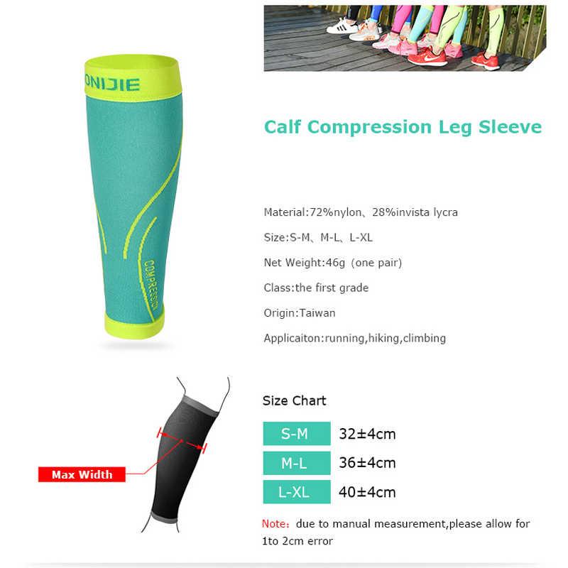 AONIJIE E4068 تشغيل الجوارب المهنية ضغط الساق كم غطاء يقي قصبة الرجل الدراجات الساق كرة القدم كرة السلة الرياضة العجل دعم