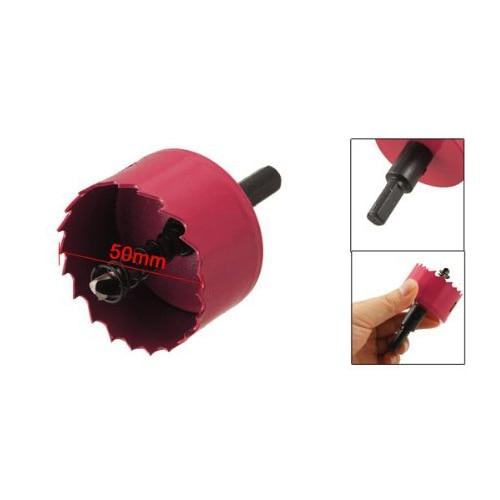 KSOL Красный 50 мм Диаметр Биметаллические Кольцевая Пила Wood Сплав Железа Резак