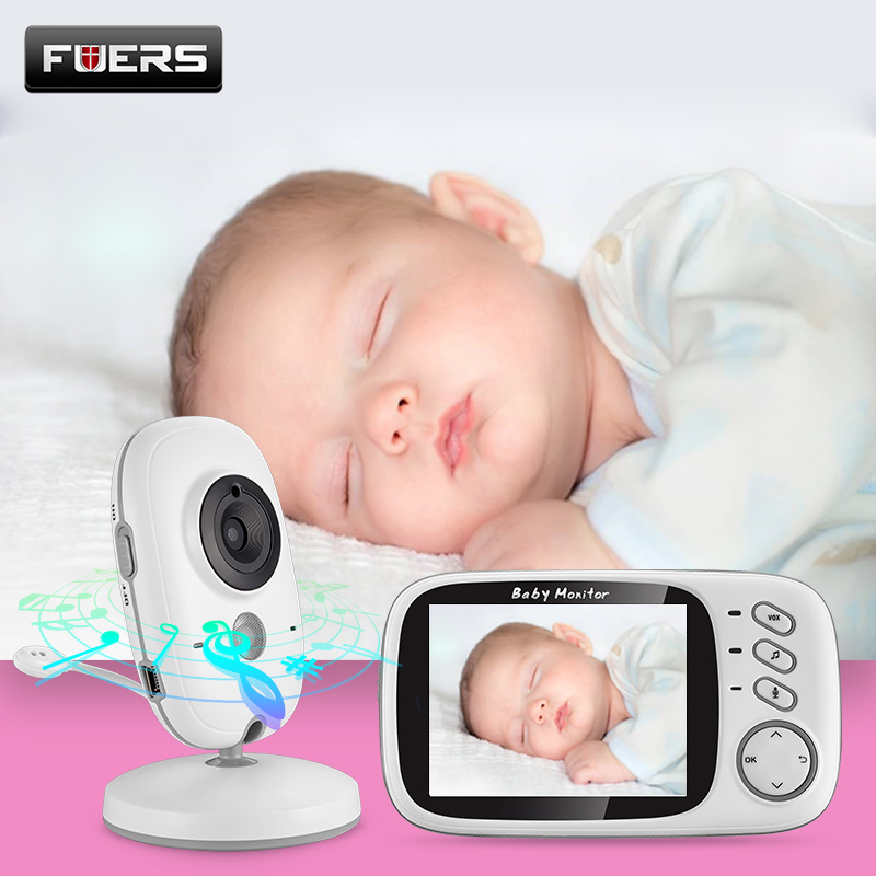 VB603 moniteur vidéo sans fil couleur bébé 3.2 pouces haute résolution Vision nocturne surveillance de la température bébé nounou caméra de sécurité