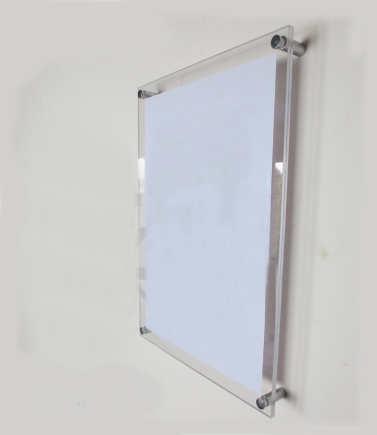 Wall Mounted Clear Acrylic Photo//Certificate Frame Two Sizes Available