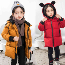 Baby Winter Jacket Toddler Girls Autumn Winter Hooded Coat Thick Warm Clothes Children Jacket Kids Outerwear Boy Girl Coat Parka цены
