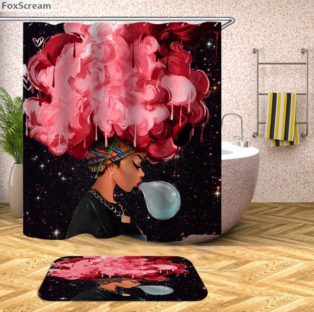 Africano tenda della doccia bagno tenda Bagno Impermeabile Donna Africana Tenda