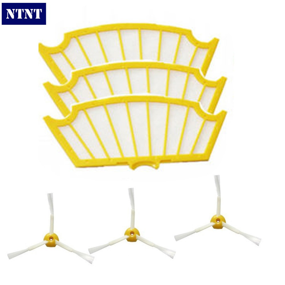 NTNT 3 piece Replacement Filter for iRobot Roomba Cleaner Filter and 3 piece For iRobot Roomba Cleaner 3 Arms Side Brush ajit kumar paswan and rakesh kumar efficacy of separate and premix formulation of herbicides on weeds