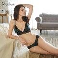 wireless ultra-thin comfortable satin lace lingerie bra set underwear women hot sale women bra set