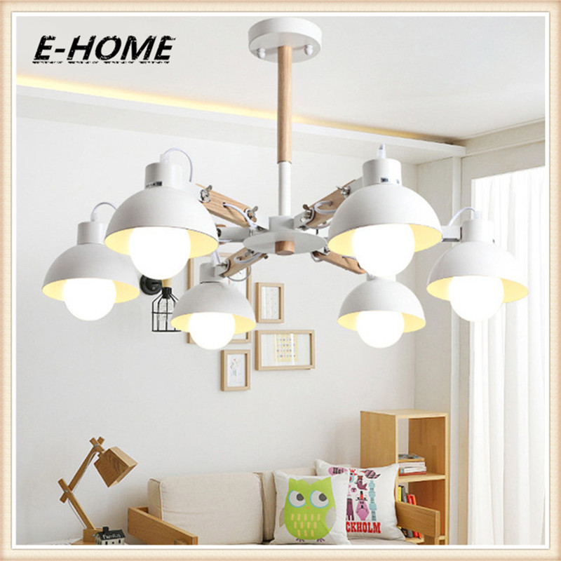 где купить European living room lamps LED solid wood chandeliers Continental restaurant Iron bedroom lighting по лучшей цене