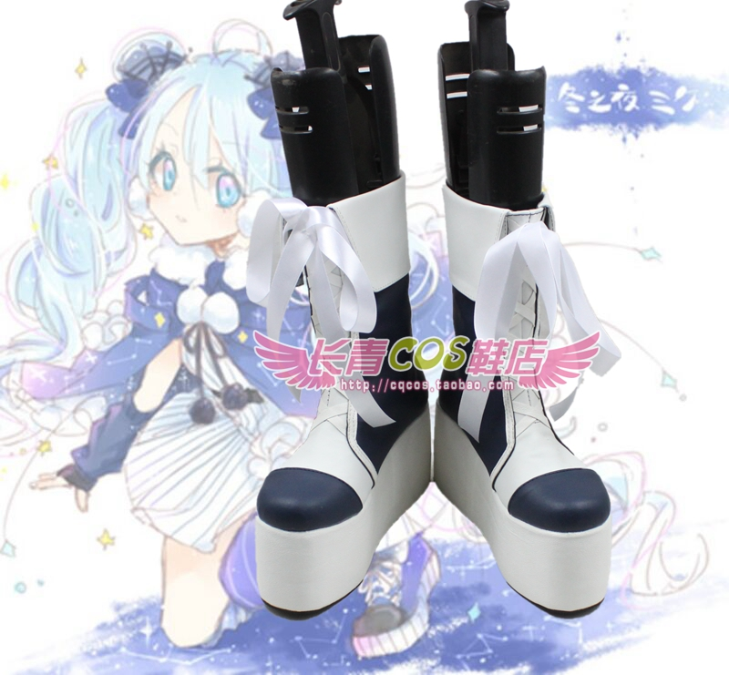 VOCALOID Hatsune Miku cosplay shoes boots Custom-Made 3889