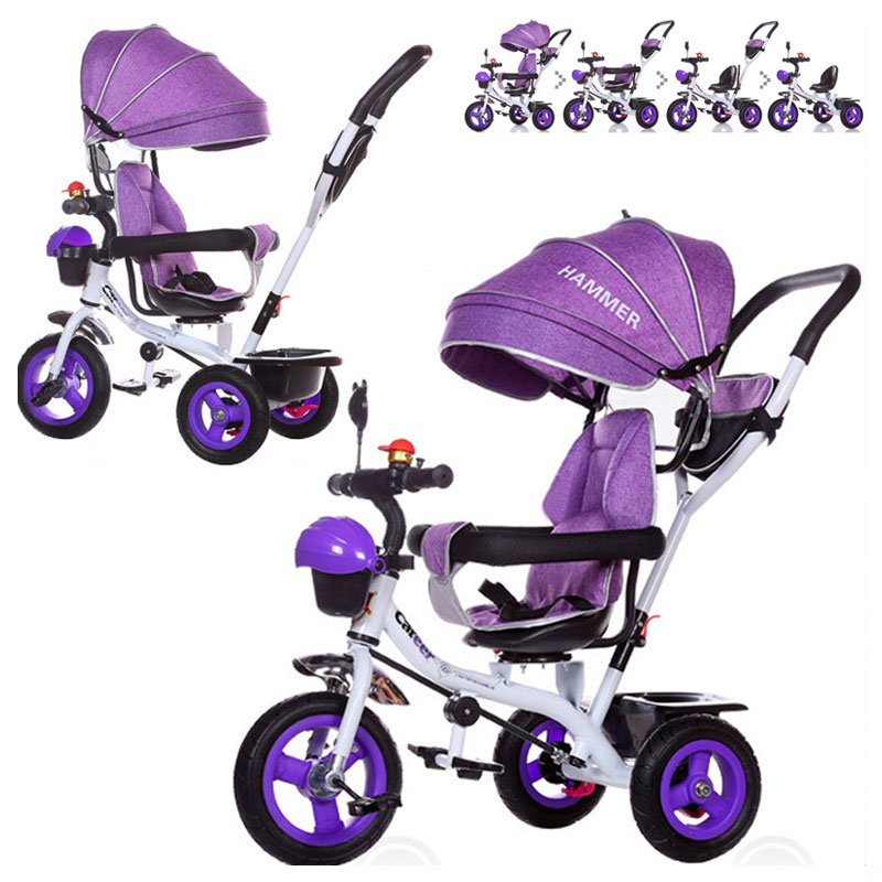 Brand Quality Portable Baby Tricycle Bike Children Tricycle Stroller Bicycle Swivel Baby Carriage Seat Detachable Umbrella Pram brand quality portable baby tricycle bike children tricycle stroller bicycle swivel baby carriage seat detachable umbrella pram