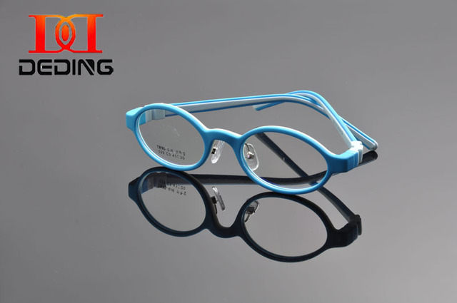 a81ef7bd75 DEDING Unbreakable Kids Silicone Oval Glasses Frame Size 45 ...