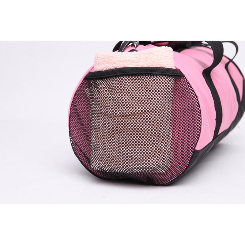 b678f6abfd81 2018 Large Light Cylinder Gym Bag for Women Portable Fitness bag Waterproof  Nylon Sport Bag Men for Gym with Night Lights Logo-in Gym Bags from Sports  ...