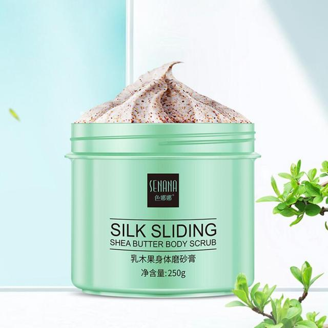 Body Scrub Shea Butter Exfoliator Deep Cleansing Exfoliating Smooth Brightening Bath Spa Skin Cleanser 4