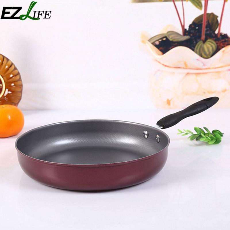 EZLIFE 26cm Mini Non stick Pan Stainless Steel Kitchen Cooking Frying Pan Kitchen Accessories Cooking Gadgets