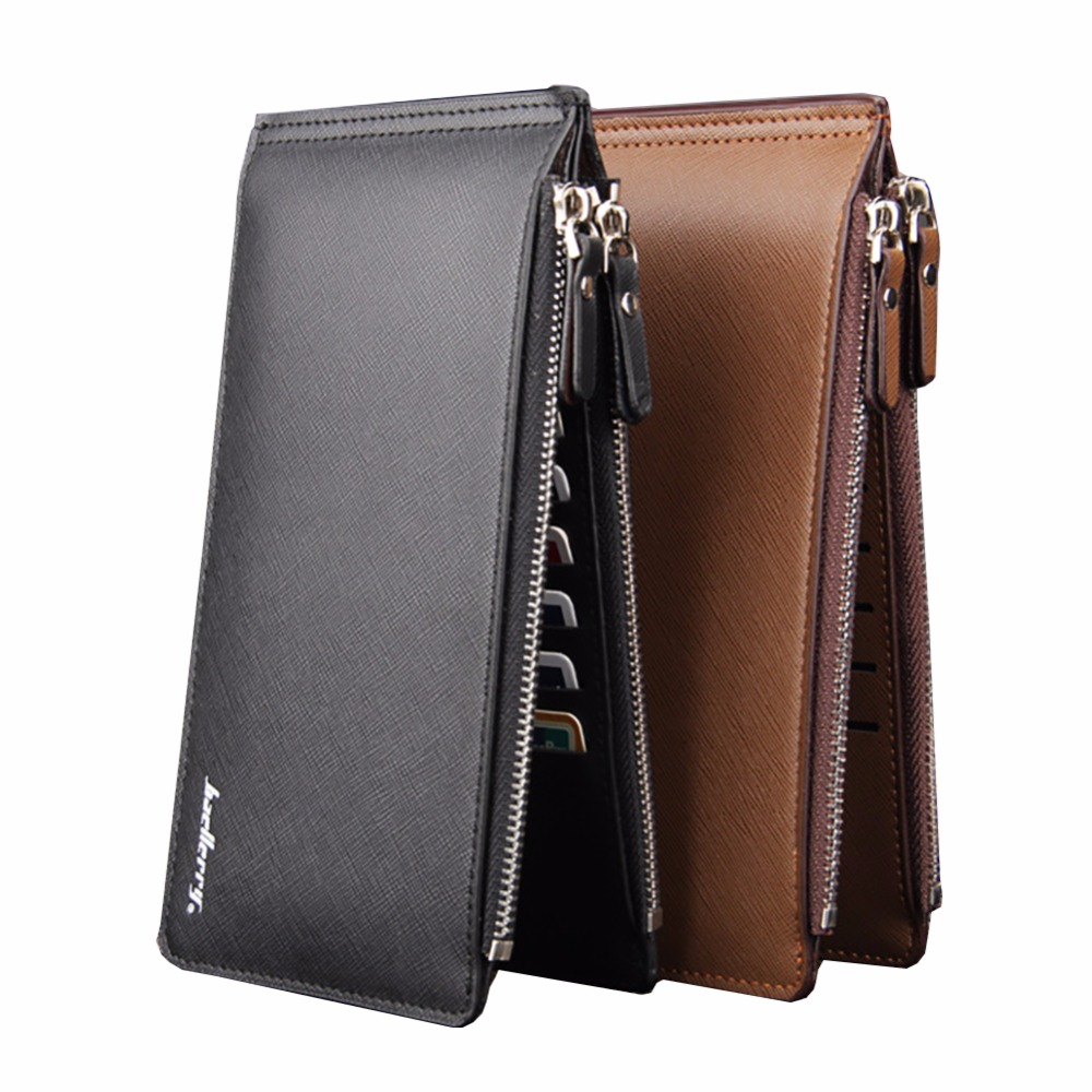 Baellerry Casual Business Long Men Wallets With Zipper Card Holder Clutch PU Leather Male Bifold Coin Pocket-- BID062 PR49 segal business writing using word processing ibm wordstar edition pr only