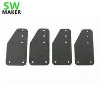 SWMAKER 4 teile/los X Schnitzen CNC mühle maschine teil stahl y achse unterstützung platte MakerSlide Endplatte Für X schnitzen|CNC-Steuerung|Werkzeug -