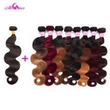 Ali Coco Brazilian Body Wave Hair 1/3/4 Bundles 100% Human Hair Weave Bundles Double Weft 8-30 inch Non-Remy Hair Extensions