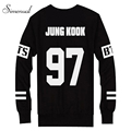 Hot sale couple BTS sweatshirts number letter print black moletom feminino harajuku 2017 long sleeve casual clothes for women