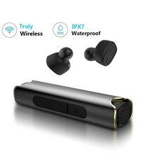 New TWS Wireless Waterproof Bluetooth Earphone In-ear Sport Headset Magnetic Charging Box Hi-Fi Stereo Handsfree Earbuds blitzwolf bw fye1 bluetooth v5 0 tws true wireless sport earphone tws earbuds hi fi stereo dual microphone w charging box