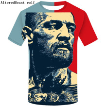 9be6a88b The King Of Conor McGregor 3D T Shirt MMA Notorious Tshirt Men Short Sleeve  Tops Tee