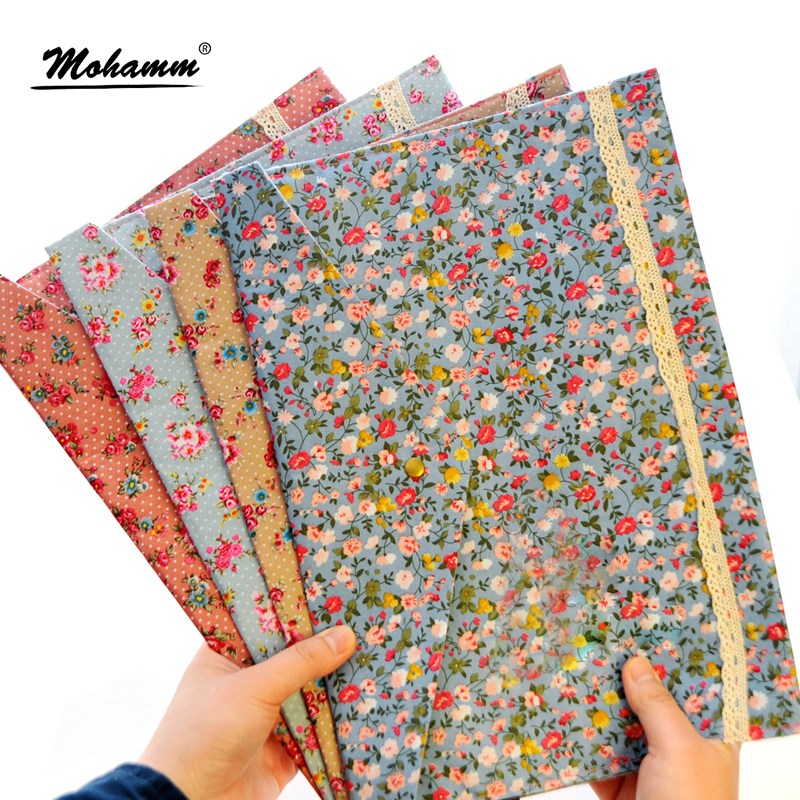 1 Pcs A4 Cotton Fabric Paper Holder Portafolio School Folder Bag Korean Stationery Office Supplies(China)