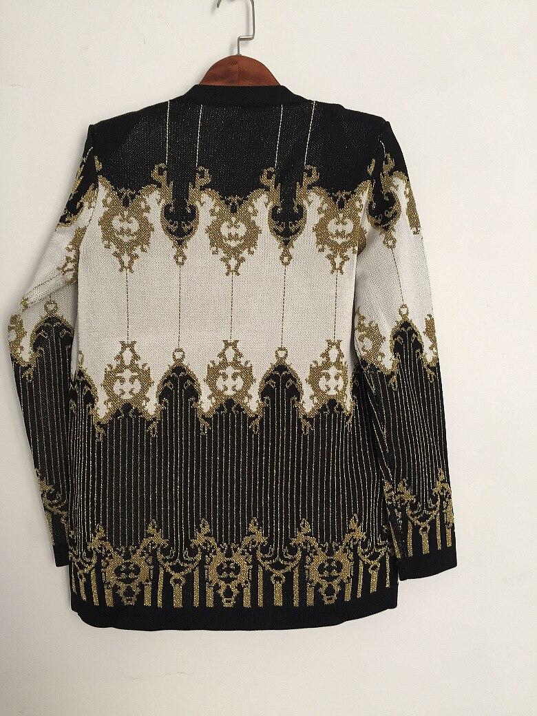 Tricoter Qualité Haute Manteaux Piste À Designer Fashion Outwear Ceinture Fil Q001 Or Femmes Chandail Cravate Paris Multi Cardigans Vestes 7pxdpqw