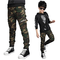 New Brand 2017 Baby Boys Camouflage Trousers Children Fashion Straight Elastic Waist Clothing Kid S Pockets